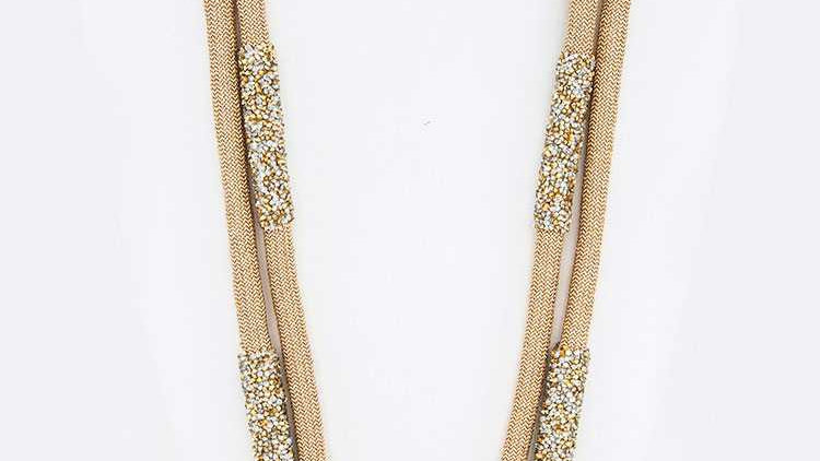Druzy Crystal Accent Metallic Rope