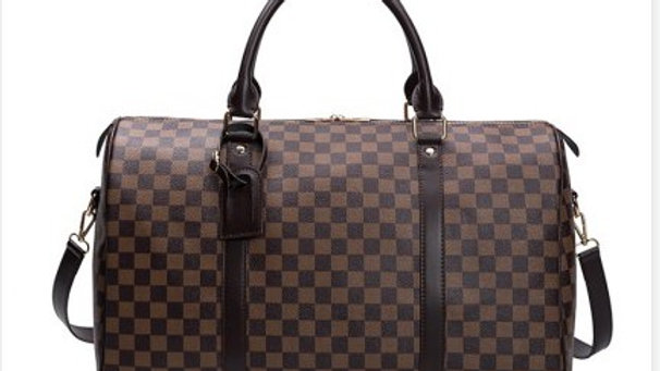 Josephine's Checkered Duffel Bag With Strap