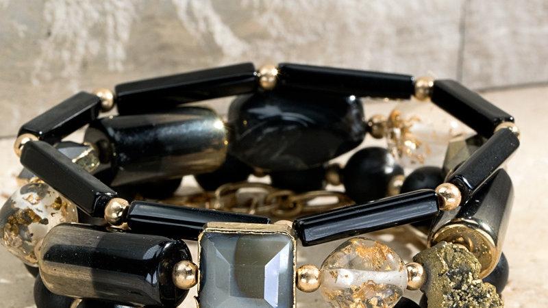 Josephine's Dazzling Multi Layerd Link Chain Bracelet
