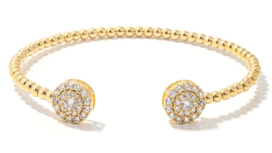 rhinestone studded thin cuff bracelet design