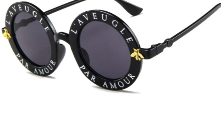 Josephine's Gold Bumblebee Round Face Glasses