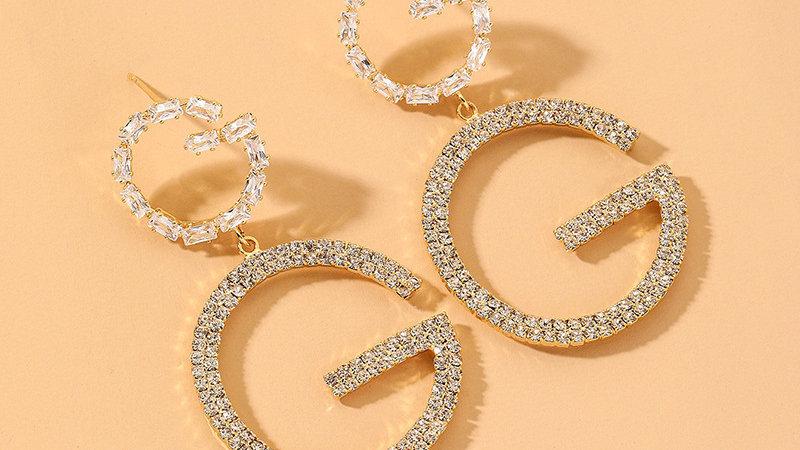 Josephine's Double Diamond G Earrings