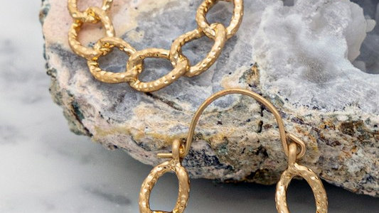 Josephine's Casting Chunky Chain Hoop Earrings