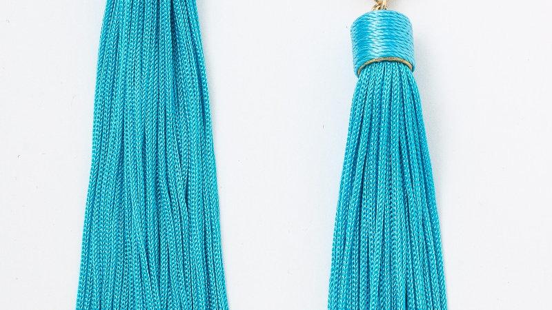 Crystal Stud Tassel Fringe Earrings