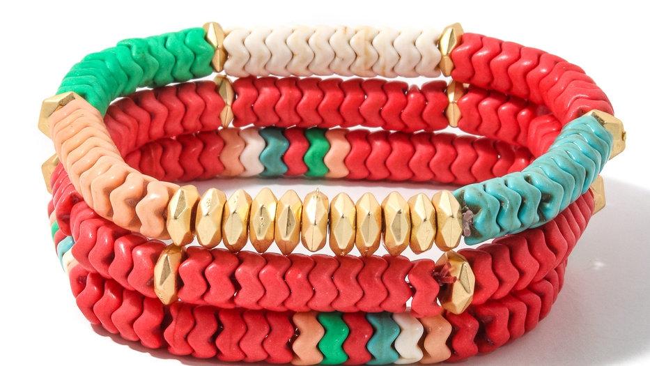 Wavy Beaded Bracelet Set