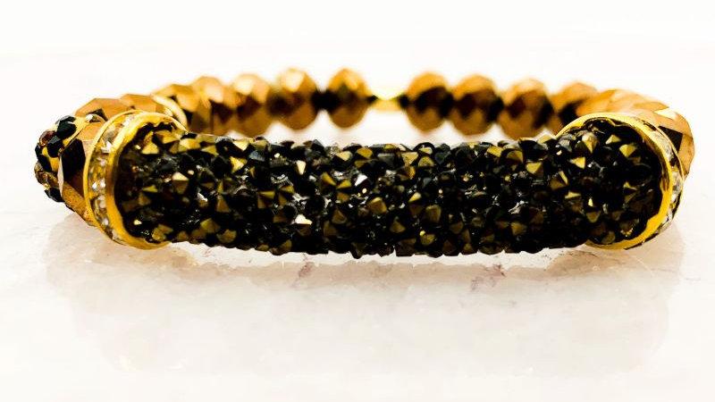 Glass beaded Stretch Bracelet