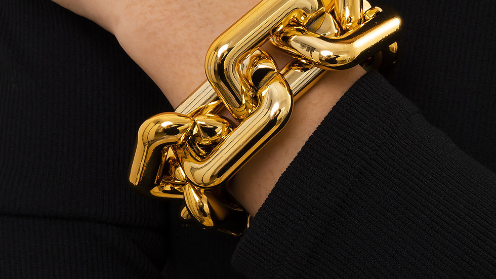 Josephine's Geometric Gold Bracelet