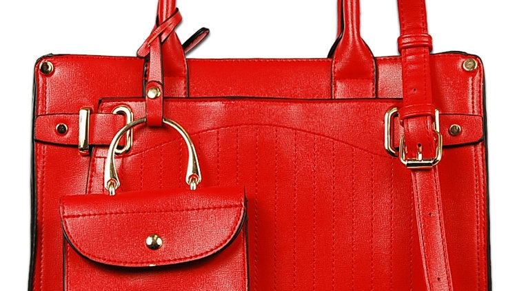 Fire Red Satchel