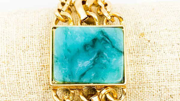 Semi Precious Stone Chain Bracelet