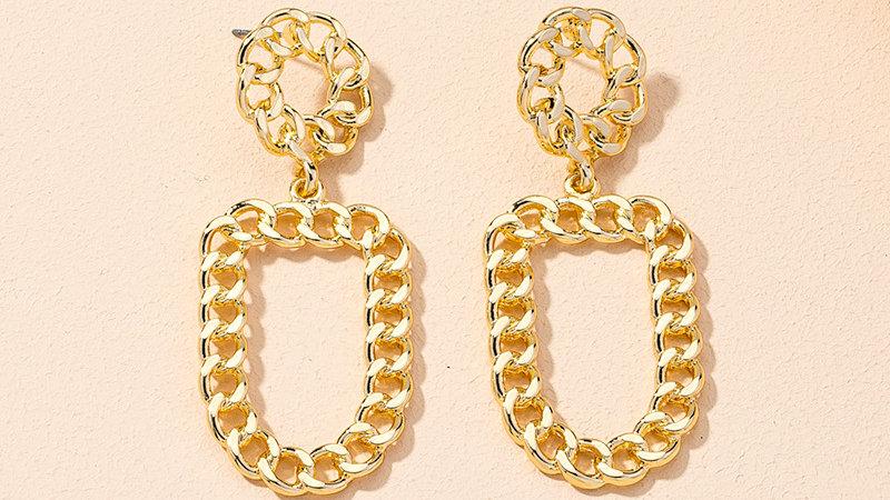 Josephine's Retro Chain Earrings