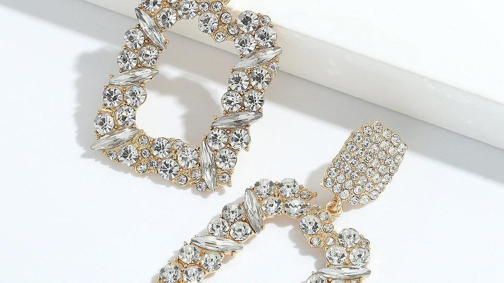 Josephine's Diamond Geometric Big Earrings