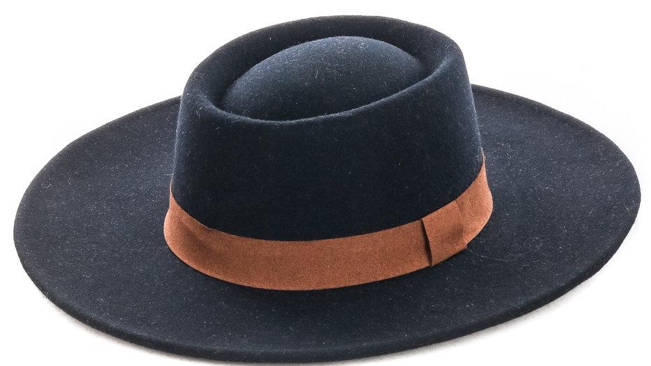 Felt Pork Pie Ribbon Wrap Hat