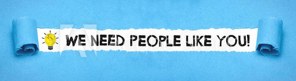 We need people like you image