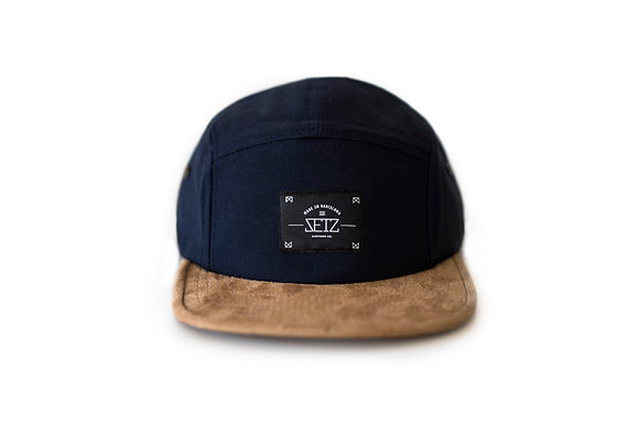 Navy Suede 5 Panel