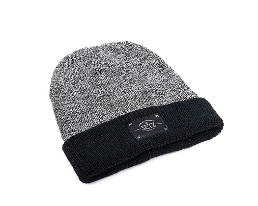 Contrast Grey and Black Beanie