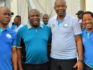 The Chairman of Brownsville College Ikoyi at the Lagos State Marathon