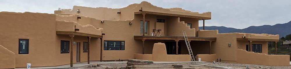 3-toned stucco house (rear)