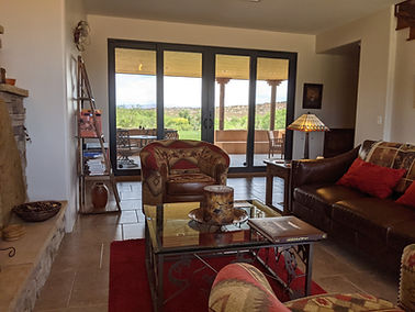 Great Room view toward the Verde River. through the double sliding French patio doors.