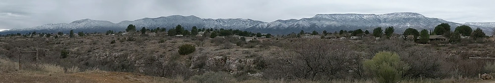 Snow on the Black Hills, on the southwest edge of the Verde Valley
