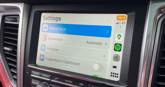 CarPlay - Setting Screen