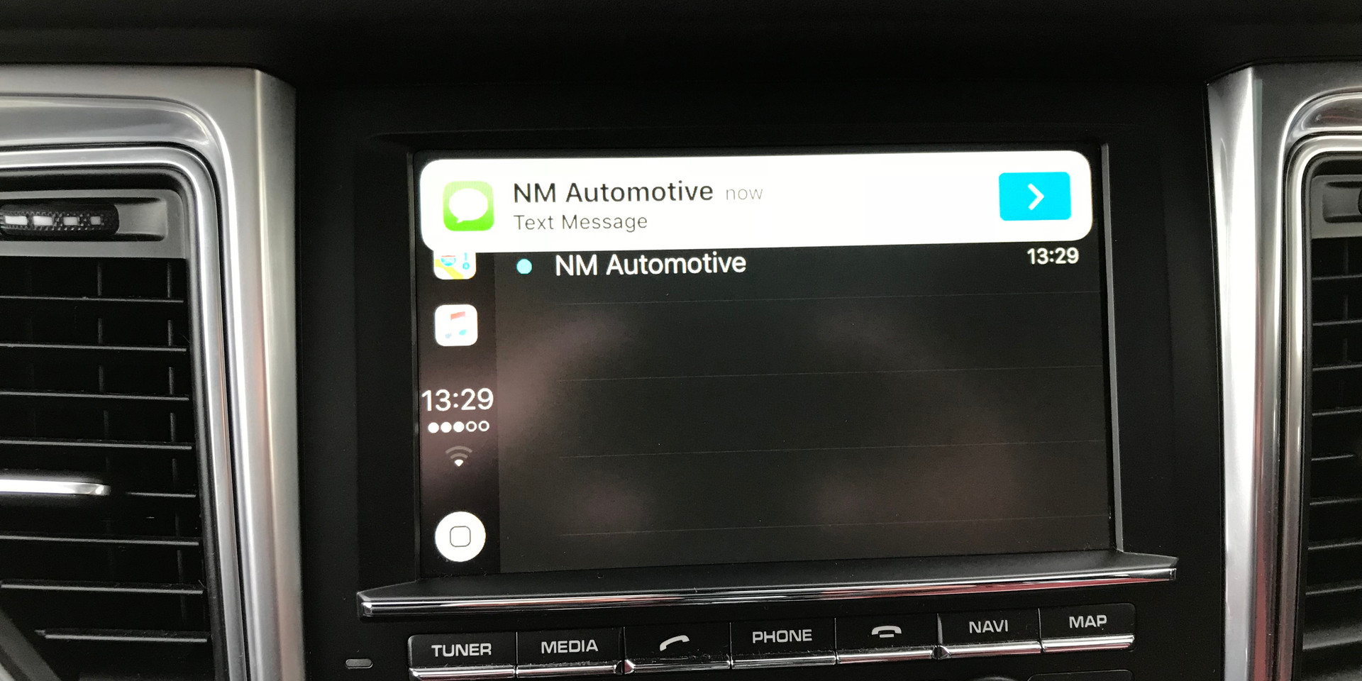 CarPlay Receiving Text