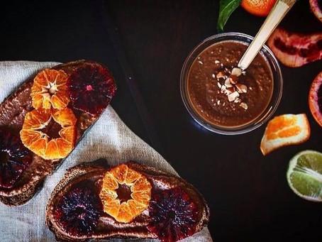 Recette de tartine au chocolat protéinée & orange 🍊