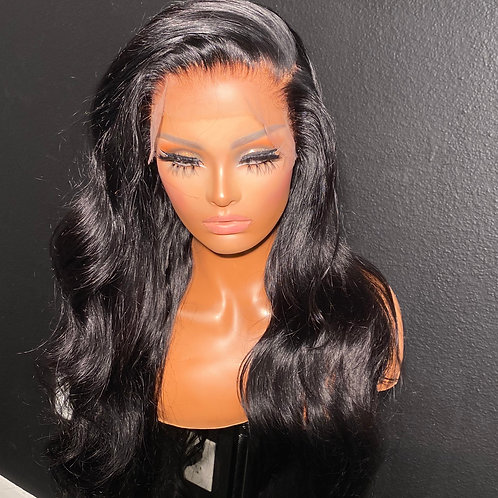 "26inch PRE DESIGNED jet black HD Full lace wig  ""black collection """