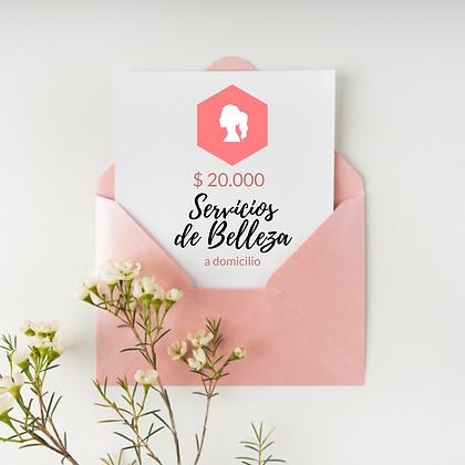 Gift Card Servicios Belleza