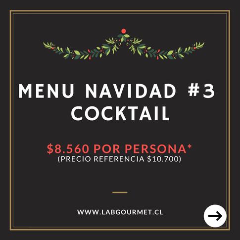 Menu 3: Cocktail $8.560 por persona