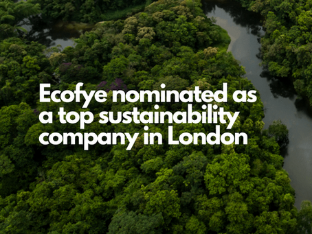 Ecofye nominated as a top sustainability company in London