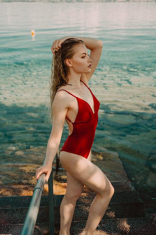 CAPRI ONE PIECE - Red Coral