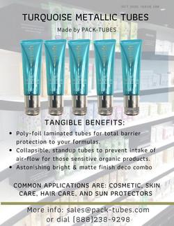 Turquoise Metallic tube Goddady