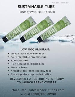Low MOQ 3oz aluminum tube