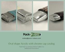 Oval shape acrylic chrome fcaps