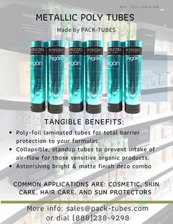 Metallic shampoo tube Goddady