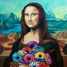 Mona Lisa's Pile (of Donuts)