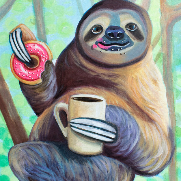 Sloth with Donut