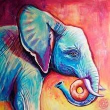 Elephant with Donut
