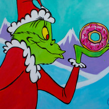 The Grinch with Donut
