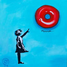 Girl with Red Donut