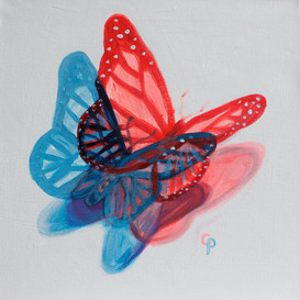 Red/Blue Butterfly