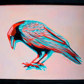 Red/Blue Raven