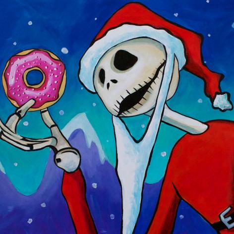 Jack Skellington Santa Donut