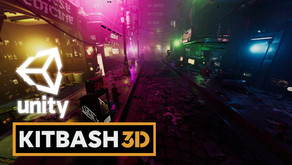 Unity 3D | Kitbash3D Cyberpunk Street Kit | HDRP