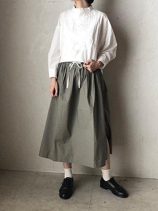 コットン 配色サイドスリットスカート(TF2030701)
