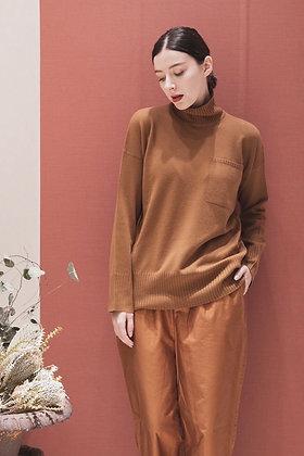 ウールカシミヤ 配色ハイネックセーター (A2030302)