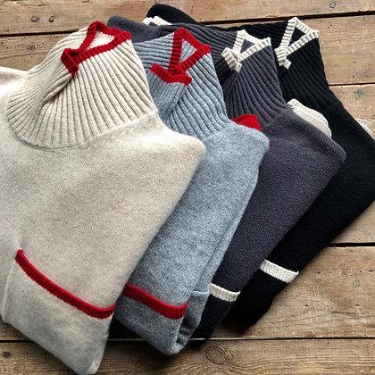 カシミヤ100% ハイネックセーター(TF18AW-352)