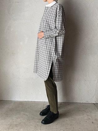 コットン チェックロングシャツ(TF2030551)