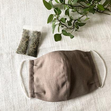 オリジナル布マスク(ハーブサシェ付き)
