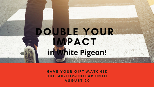 White Pigeon Community Foundation to Match Gifts for Pedestrian Safety Project in White Pigeon